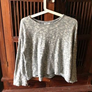 Blue and white cotton sweater size XL